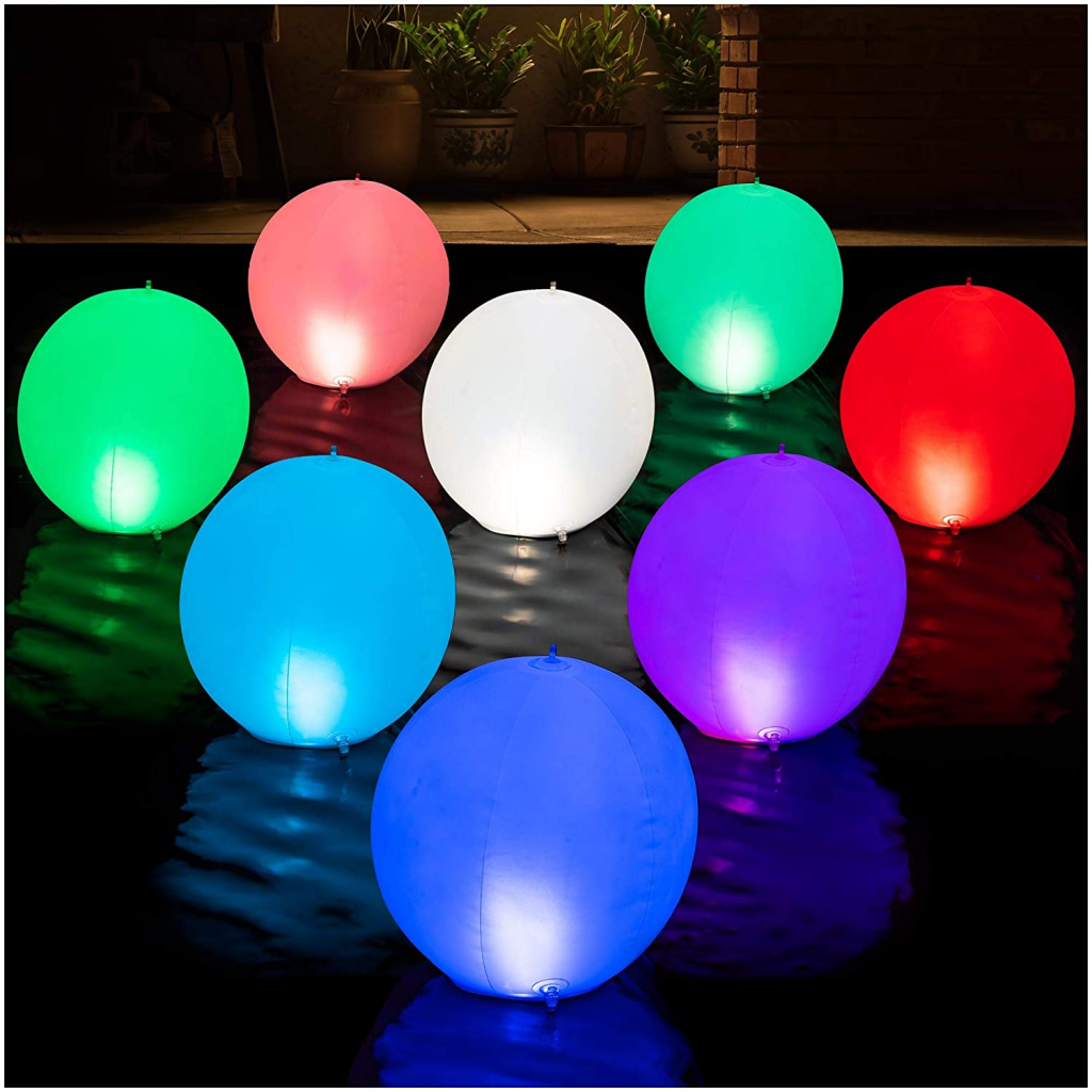 Hapikay Solar Powered Floating Lights 5 Best Floating above Ground Pool Lights Review and Buying Guide